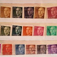 Sellos: ESPAÑA 1955-56 - EDIFIL 1143/1163 - SERIE COMPLETA - GENERAL FRANCO. Lote 174919278