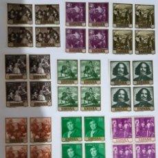 Sellos: SELLOS ESPAÑA PINTORES VELAZQUEZ 1959 EN BLOQUES DE 4. Lote 154863274