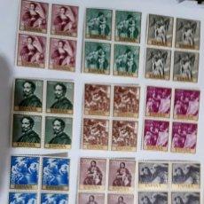 Sellos: SELLOS ESPAÑA PINTORES ALONSO CANO 1969 EN BLOQUES DE 4. Lote 154869734