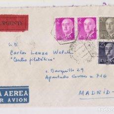 Sellos: SOBRE. CORREO AÉREO DE MÁLAGA A MADRID. 1958. Lote 155859174