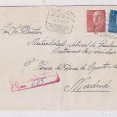 Sellos: SOBRE CERTIFICADO. MINISTERIO DE INFORMACIÓN Y TURISMO. 1964. MADRID. Lote 155862646