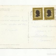 Sellos: TARJETA CIRCULADA 1958 DE INTERNATIONAL FRANKFURT ALEMANIA A ZARAGOZA. Lote 156027570