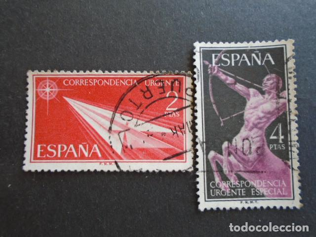 1956 EDIFIL 1185-1186 , URGENTE (Sellos - España - II Centenario De 1.950 a 1.975 - Usados)