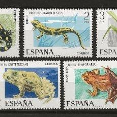 Sellos: TV_003 ,G10B / ESPAÑA 1975, MNH**, EDIFIL 2272/76, FAUNA HISPANICA. Lote 237542525