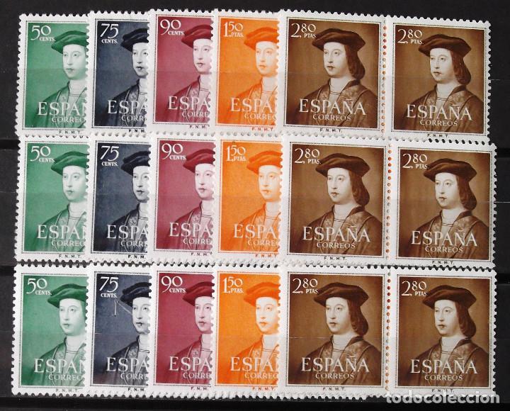 EDIFIL 1106-10, TRES PAREJAS, NUEVAS, SIN CH. FERNANDO EL CATÓLICO. (Sellos - España - II Centenario De 1.950 a 1.975 - Nuevos)