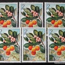 Sellos: EDIFIL 2086, SEIS SELLOS, NUEVOS, SIN CH. FLORA.. Lote 156635014