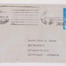 Sellos: SOBRE CORREO AÉREO. MADRID AVIÓN. A ALEMANIA. 1956. Lote 156666574