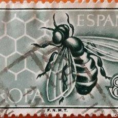 Sellos: SELLO ESPAÑA EDIFIL N°1449 ABEJA. Lote 180994286