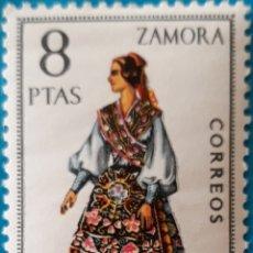 Sellos: SELLO ESPAÑA EDIFIL N°2017 TRAJE REGIONAL ZAMORA. Lote 156987352