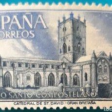 Sellos: SELLO ESPAÑA EDIFIL N°2012 CATEDRAL DE SAN DAVID GRAN BRETAÑA. Lote 156988246