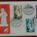 Sellos: SERIE DIA DEL SELLO 1957. EN SOBRE PRIMER DIA EMISION, SOBRE DEL SERVICIO FILATELICO.. Lote 157160434
