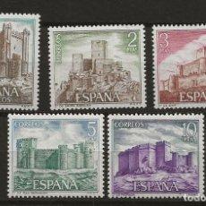 Sellos: R61.G10B/ ESPAÑA 1972, MNH **, EDIFIL 2093/97, CASTILLOS DE ESPAÑA. Lote 157433682