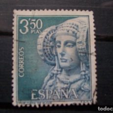 Sellos: EDIFIL 1937 DAMA DE ELCHE. SELLO USADO 1969. SERIE PAISAJES Y MONUMENTOS. Lote 157861674