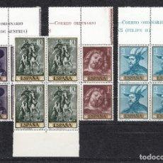Sellos: 1962 EDIFIL 1434/37** NUEVOS SIN CHARNELA. RUBENS. BLOQUE DE CUATRO. BORDE DE HOJA. Lote 157875142
