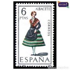 Sellos: ESPAÑA 1967. EDIFIL 1768. TRAJES REGIONALES. ALBACETE, NUEVO** MNH. Lote 157925822