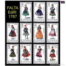 Sellos: ESPAÑA 1967. EDIFIL 1768/78 1778 (FALTA 1767) TRAJES REGIONALES. NUEVO** MNH. Lote 157926186