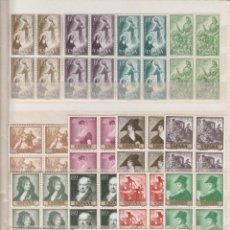 Sellos: MAGNIFICO LOTE AÑOS DE 1957 A 1962, EN BLOQUE DE CUATRO, NO ESTÁN COMPLETOS.. Lote 159710018