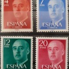 Sellos: SELLO ESPAÑA EDIFIL N°2225 A 2228 GENERAL FRANCO SERIE BÁSICA. Lote 160594133