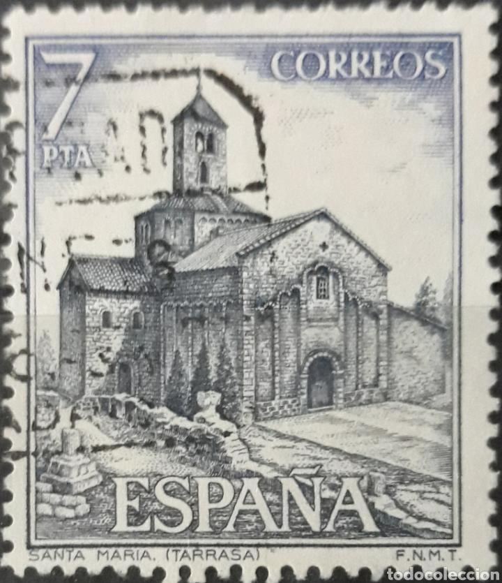 SELLO ESPAÑA EDIFIL N°2271 IGLESIA DE SANTA MARÍA TERRASSA (Sellos - España - II Centenario De 1.950 a 1.975 - Usados)