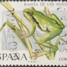 Sellos: SELLO ESPAÑA EDIFIL N°2274 RANA ARBOREA. Lote 160631109