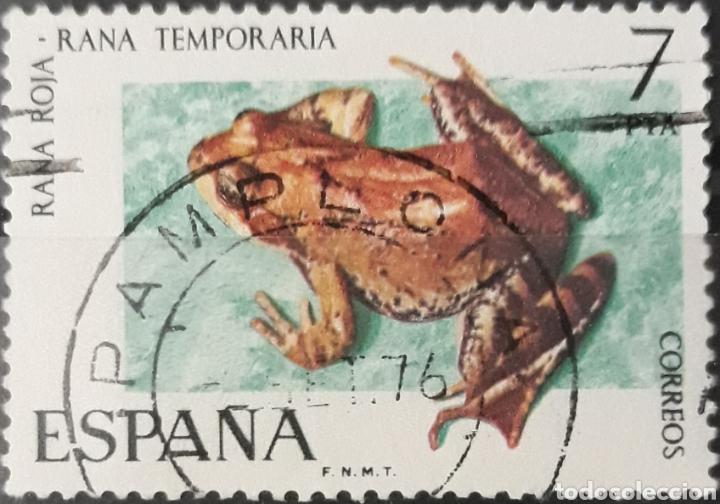SELLO ESPAÑA EDIFIL N°2276 RANA TEMPORARIA (Sellos - España - II Centenario De 1.950 a 1.975 - Usados)
