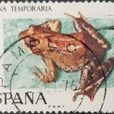 Sellos: SELLO ESPAÑA EDIFIL N°2276 RANA TEMPORARIA. Lote 160631629