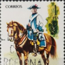 Sellos: SELLO ESPAÑA EDIFIL N°2277 REGIMIENTO DE MONTESA 1788. Lote 160631910