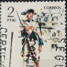 Sellos: SELLO ESPAÑA EDIFIL N°2288 FUSILERO DE ASTURIAS 1789. Lote 160632101