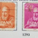Sellos: SELLOS CANONIZACIÓN BEATO JUAN DE RIBERA, 1960, NUM 1292 Y 1293. Lote 160726534