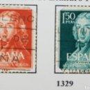 Sellos: SELLO LEANDRO FDEZ. MORATIN 1961, NUM 1328 Y 1329. Lote 160736484
