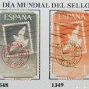 Sellos: SELLOS DÍA MUNDIAL SELLO, 1961 NUM 1348 Y 1349. Lote 160740570