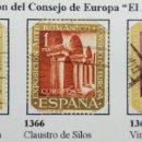 Sellos: SELLOS EXPO CONSEJO EUROPA 1961, NUM 1365, 1366 Y 1367. Lote 160741784
