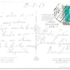 Sellos: TARJETA POSTAL CIRCULADA A BARCELONA CON DOS SELLOS SUPERPUESTOS. 1967. Lote 161713498