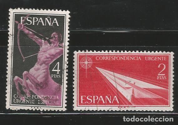 ESPAÑA 1956 - ALEGORIAS URGENTE - EDIFIL 1185 - 1186 (Sellos - España - II Centenario De 1.950 a 1.975 - Usados)