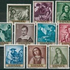 Sellos: ESPAÑA 1962 - EDIFIL 1418/27** - FRANCISCO DE ZURBARÁN. Lote 146256770