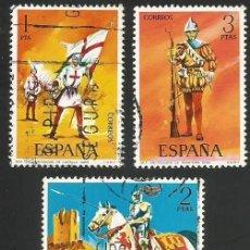 Sellos: ESPAÑA 1973 - ES 2139 A 2143 - UNIFORMES MILITARES (I) - SERIE USADA. Lote 162928730