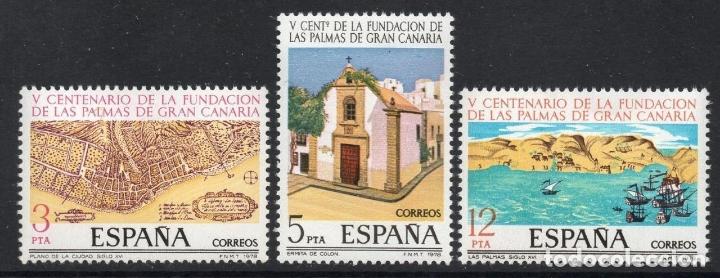 ESPAÑA 1978 ** NUEVOS EDIFIL 2477/2479 - 5/27 (Sellos - España - II Centenario De 1.950 a 1.975 - Nuevos)