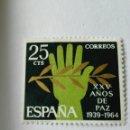 Sellos: SELLO ESPAÑA 1964. EDIFIL 1576. PAZ ESPAÑOLA.NUEVO MARCA FIJASELLO. Lote 164937069