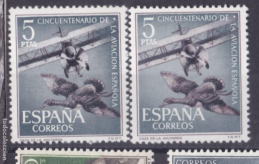 XX2- CINCUENTENARIO AVIACIÓN 5 PTAS VARIEDAD ** SIN FIJASELLOS (Sellos - España - II Centenario De 1.950 a 1.975 - Nuevos)