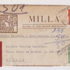 Sellos: FRENTE CERTIFICADO REEMBOLSO TARIFA REDUCIDA. 1974. BARCELONA. Lote 166326566