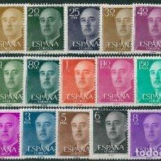 Sellos: ESPAÑA 1955-56 - EDIFIL 1143/63** - GENERAL FRANCO. Lote 166926510