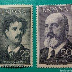 Sellos: 1955. ESPAÑA. FORTUNY Y TORRES QUEVEDO. ED. 1164/65**. Lote 167553058