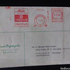 Sellos: CARTA FRANQUEO MECANICO. RELOJES . MADRID. 1966.. Lote 167780016
