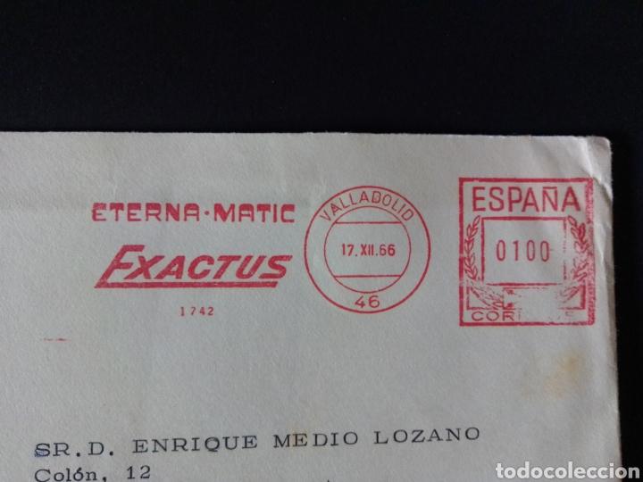 Sellos: CARTA FRANQUEO MECANICO. RELOJES. VALLADOLID. 1966. - Foto 2 - 167780362
