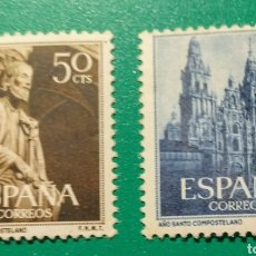 Sellos: 1954. AÑO SANTO COMPOSTELANO. ED. 1130/31*.. Lote 168510593