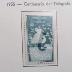 Sellos: 1955. I CENTENARIO DEL TELÉGRAFO. ED. 1180/82*.. Lote 168515394