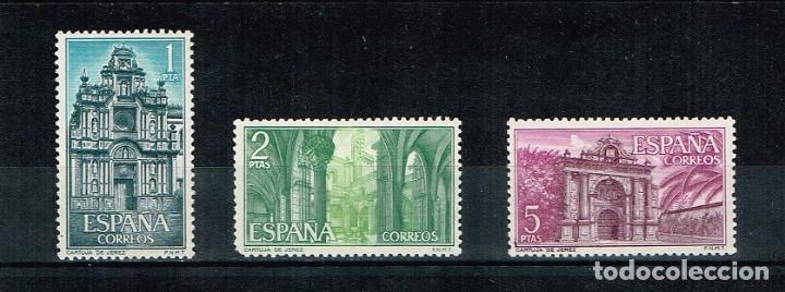 ESPAÑA 1966 - EDIFIL 1761/1763** - CARTUJA DE SANTA MARÍA DE LA DEFENSIÓN, JEREZ (Sellos - España - II Centenario De 1.950 a 1.975 - Nuevos)