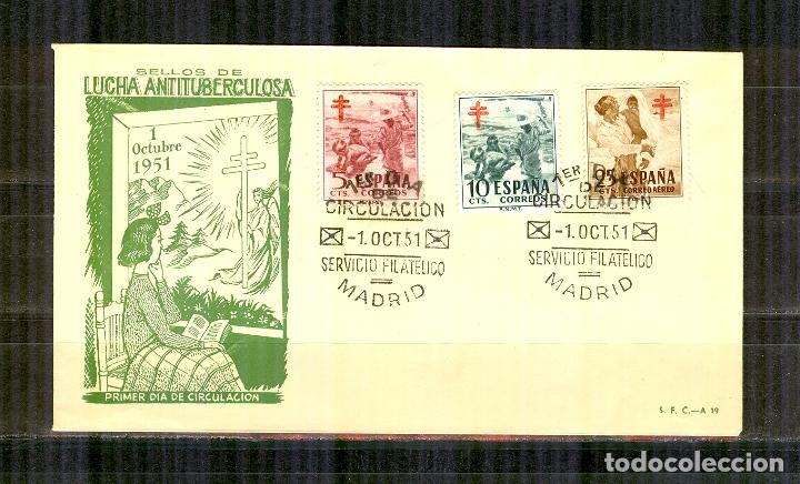SPD 1103/05 SOBRE PRIMER DIA (SFC) PRO TUBERCULOSOS 1951 BUEN ESTADO (Sellos - España - II Centenario De 1.950 a 1.975 - Cartas)