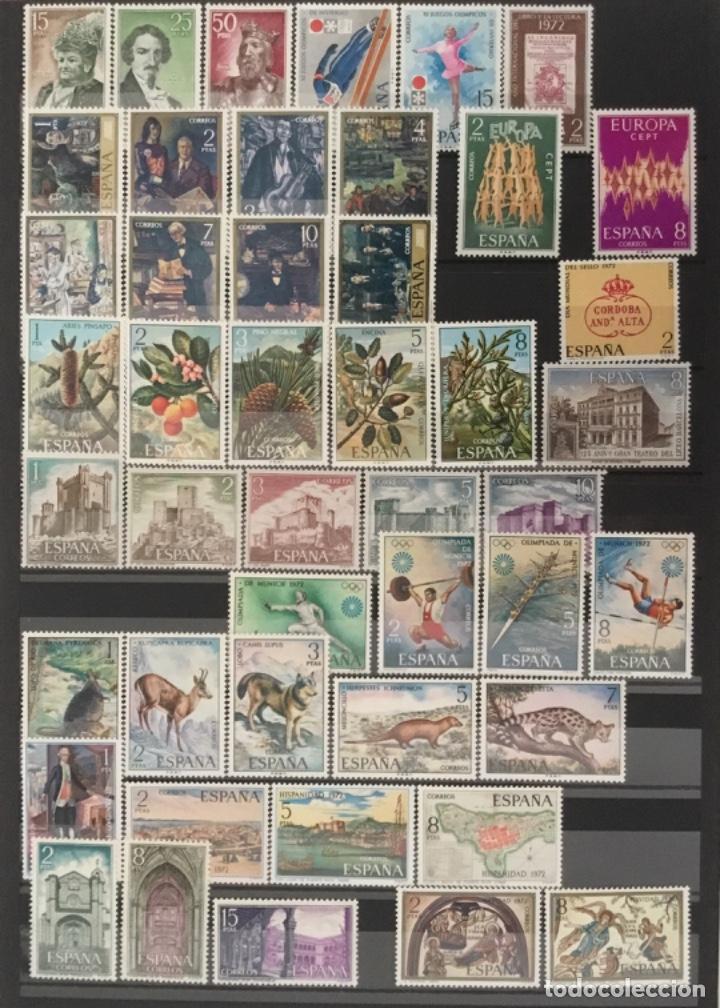1972 ESPAÑA AÑO COMPLETO NUEVO SIN FIJASELLOS MNH** EDIFIL 2071/2116 VC. 22,80€ (Sellos - España - II Centenario De 1.950 a 1.975 - Nuevos)