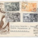 Sellos: ISABEL LA CATOLICA. EMISION CORREO AEREO 1097-1101. PRIMER DIA DE EMISION 12-OCT-1951. Lote 169082864